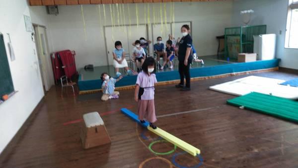 山都教室のサーキット遊び
